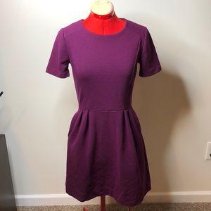 Cute Madewell Purple Short Sleeve Dress
